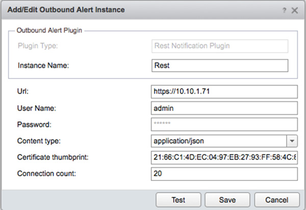 Outgoing REST notifications in vRealize Operations bugs/issues